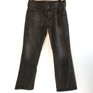 True Religion | Mens Joey Black Wash Jeans 34x31
